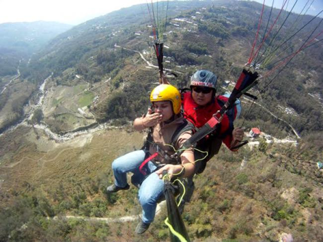 Sikkim emerges as a paragliding destination