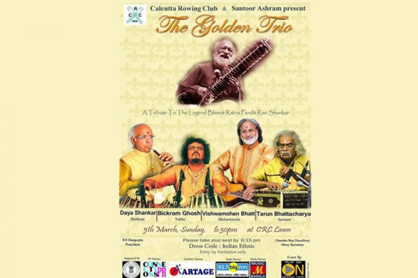 Calcutta Rowing Club & Santoor Ashram presents The Golden Trio