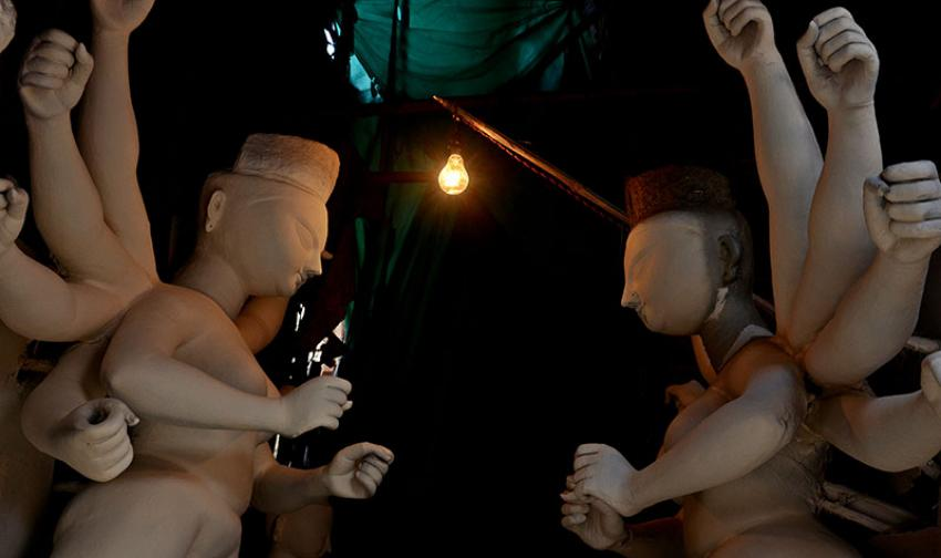 Kumartuli Walk: Where the Mother Goddess is a 'Deltasur' slayer