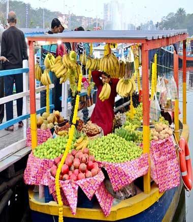 India's first floating market in Kolkata sets sail