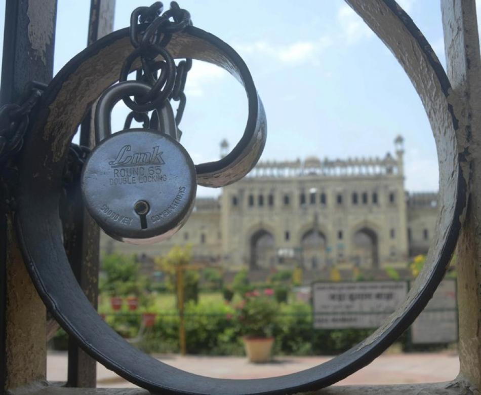Images of the Day:Bara Immambara locked amid Covid ...