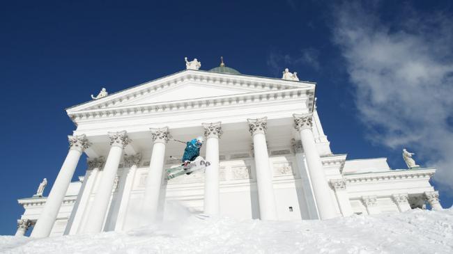On The Move in Snowy Helsinki
