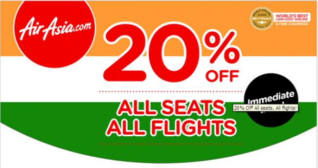 Air Asia offers 20% Off