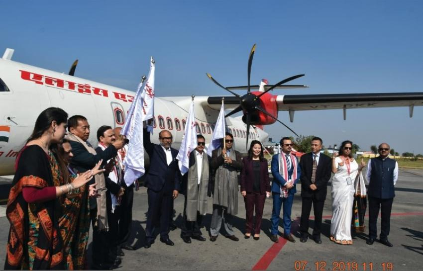 Alliance Air flags off flight from Guwahati to Dimapur to Imphal under UDAN-RC