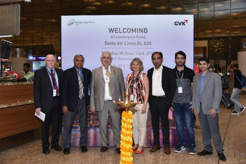 Delta Air Lines inaugurates its first nonstop flight from Mumbai to New York