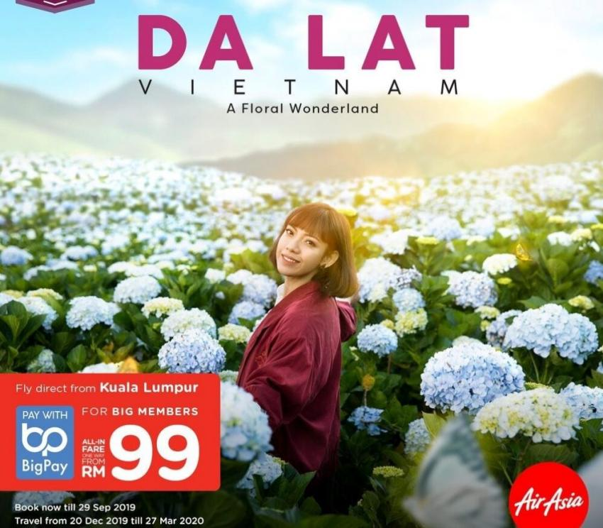 AirAsia reveals exclusive route from Kuala Lumpur to Da Lat