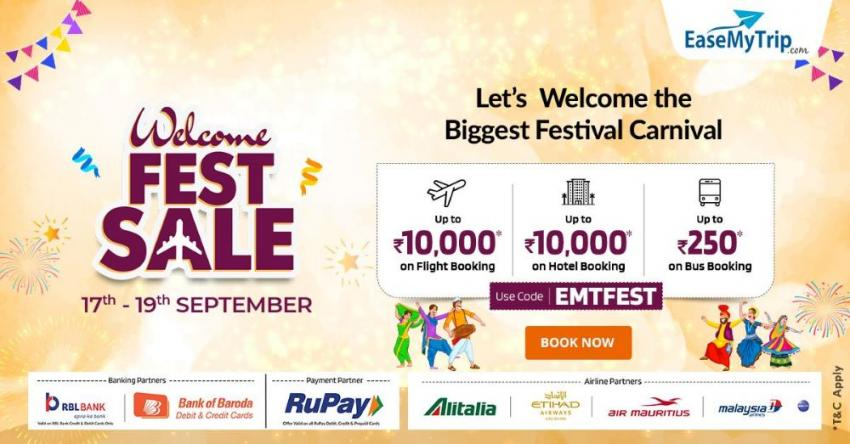 EaseMyTrip brings 'Welcome Festive Sale'
