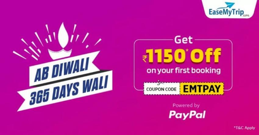 EaseMyTrip offers discount on travel fares in Diwali