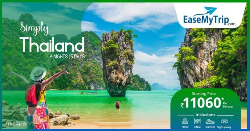 EaseMyTrip offers packages in Thailand at Rs. 11060