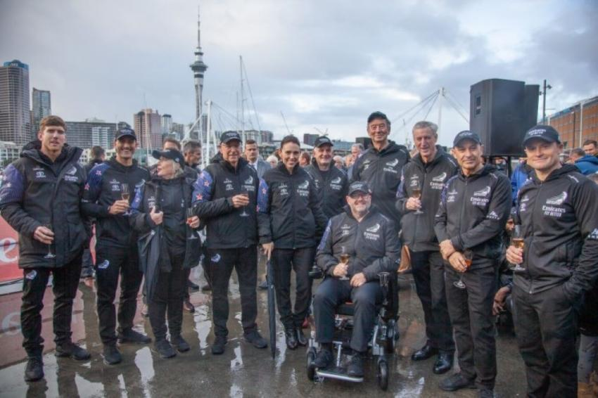 Emirates Team NZ launches first two-full scale race boats for 2021 America's Cup