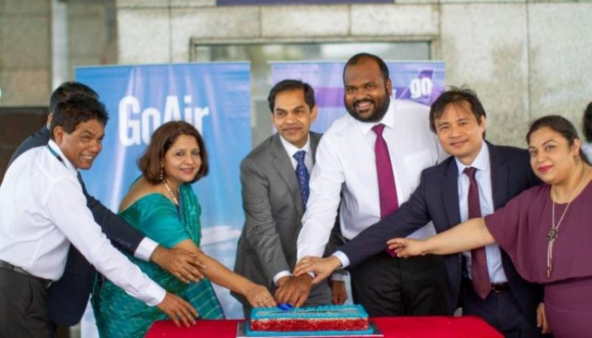 Maldives Tourism Minister Ali Waheed inaugurates the season's 1st GoAir flight to Malé