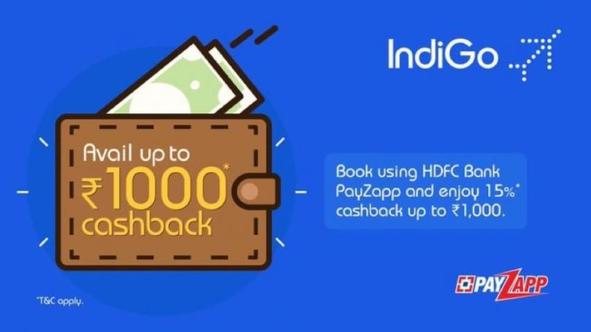 IndiGo offers 15 per cent cashback on flight bookings