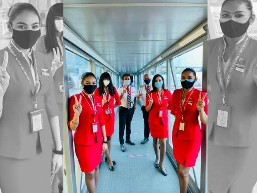 AirAsia India operates with fully vaccinated crew on 9 flights across multiple metro sectors