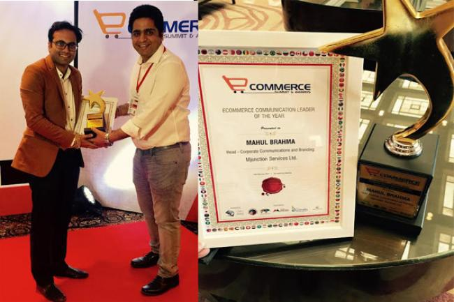 Mahul Brahma wins the E-commerce Communication Leader of the Year