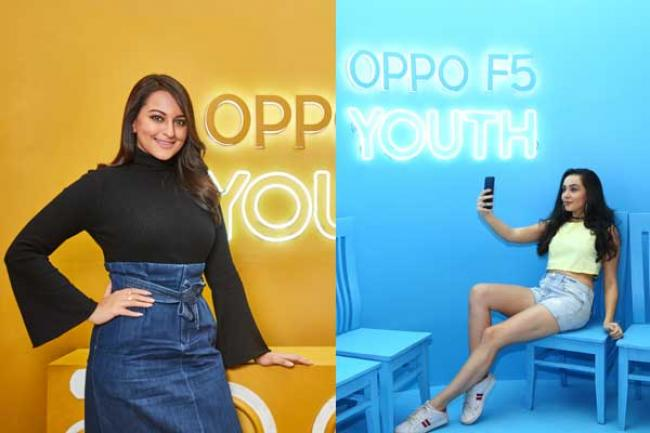 Bollywood actor Sonakshi Sinha unveils OPPO F5 Youth camera phone