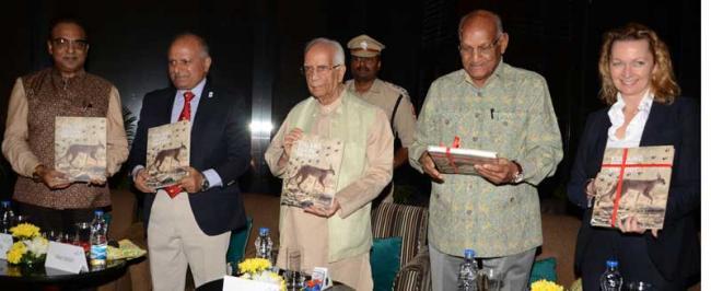 Governor Keshari Nath Tripathi  launches Kishan Rungta's book 'Stalking Tigers on Foot' in Kolkata