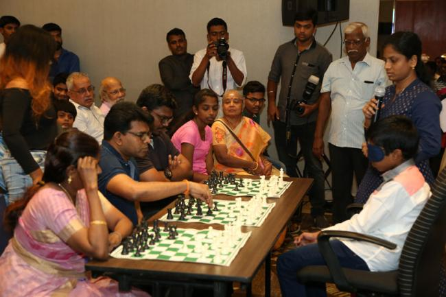 Prodigy Praggnanandhaa thrills audience including Vishy Anand at Blindfold simultaneous chess display
