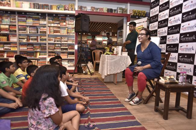 Kids today will find it easy to relate to alternative fairy tales, says Rashmi Bose at a storytelling session in Starmark book store