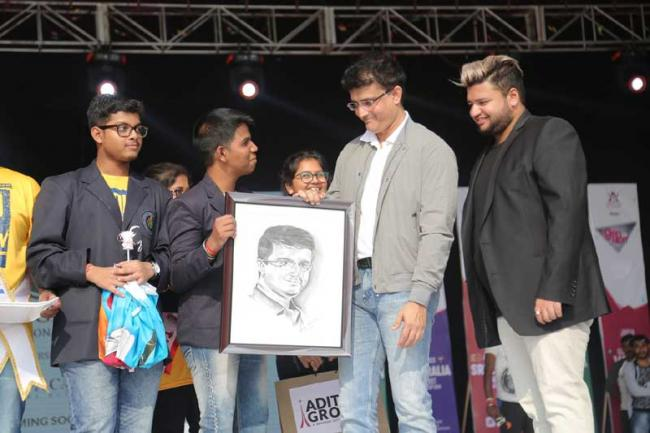 Sourav Ganguly graces annual day of Aditya Group of Schools