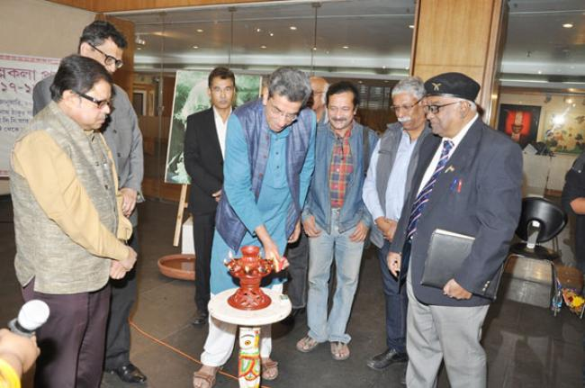 Kolkata: Annual art exhibition by students of Rabindra Bharati University at ICCR