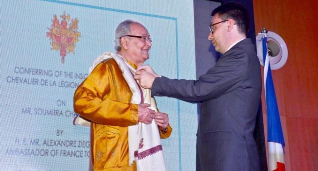 Soumitra Chatterjee receives Legion of Honours from France, says 'overwhelmed'