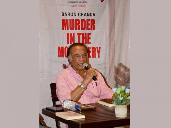 Starmark hosts launch of Barun Chanda's novel 'Murder in the Monastery'