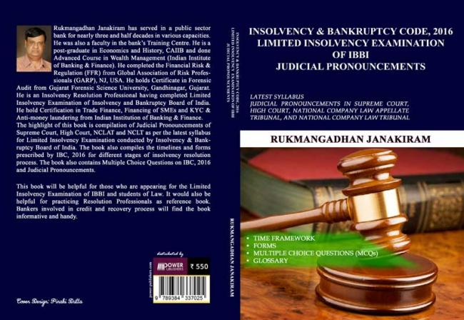 Author interview: Rukmangadhan Janakiram on his book for Insolvency & Bankruptcy Code, 2016 Limited Insolvency Examination
