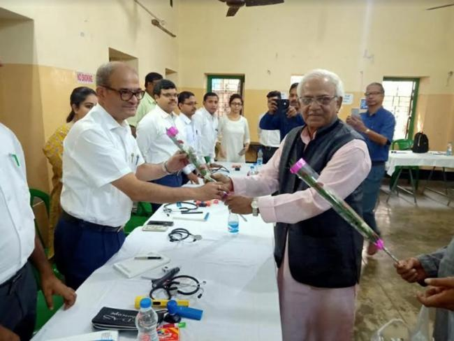 West Bengal Minister Sobhandeb Chattopadhyay inaugurates free health camp