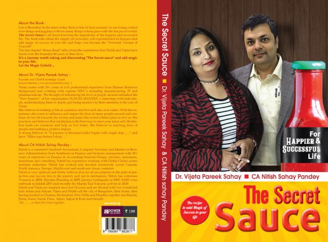 Author Interview:  Dr. Vijeta Pareek Sahay talks about the book 'The Secret Sauce' which she co-authored with  CA Nitish Sahay Pandey
