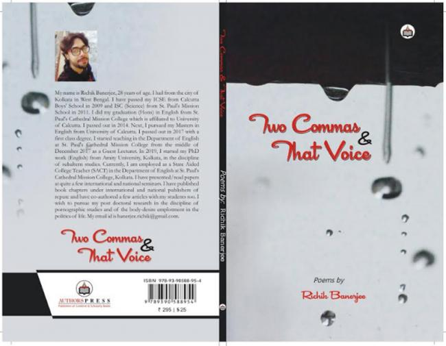 Author interview: Poet Richik Banerjee talks about his upcoming book 'Two Commas & That Voice'