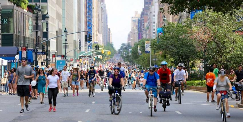 Enjoy NYC's open spaces during the Citi Summer Streets Festival in August