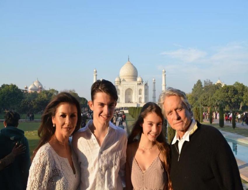 Catherine Zeta-Jones-Michael Douglas reveal their Taj Mahal love in India
