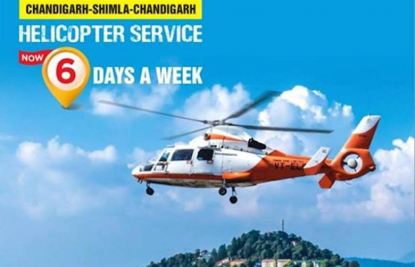 Chandigarh-Shimla helicopter service now flying six days a week