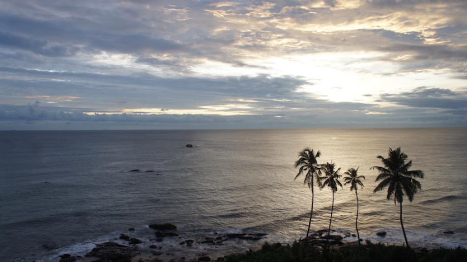 A Galle sunset in Sri Lanka